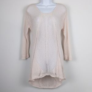ECI New York-Pink open knit swim cover up M